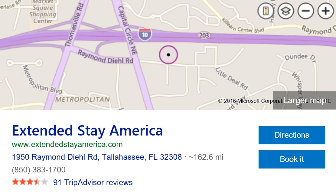 Map-of-Extended-stay-america-tallahassee-fl
