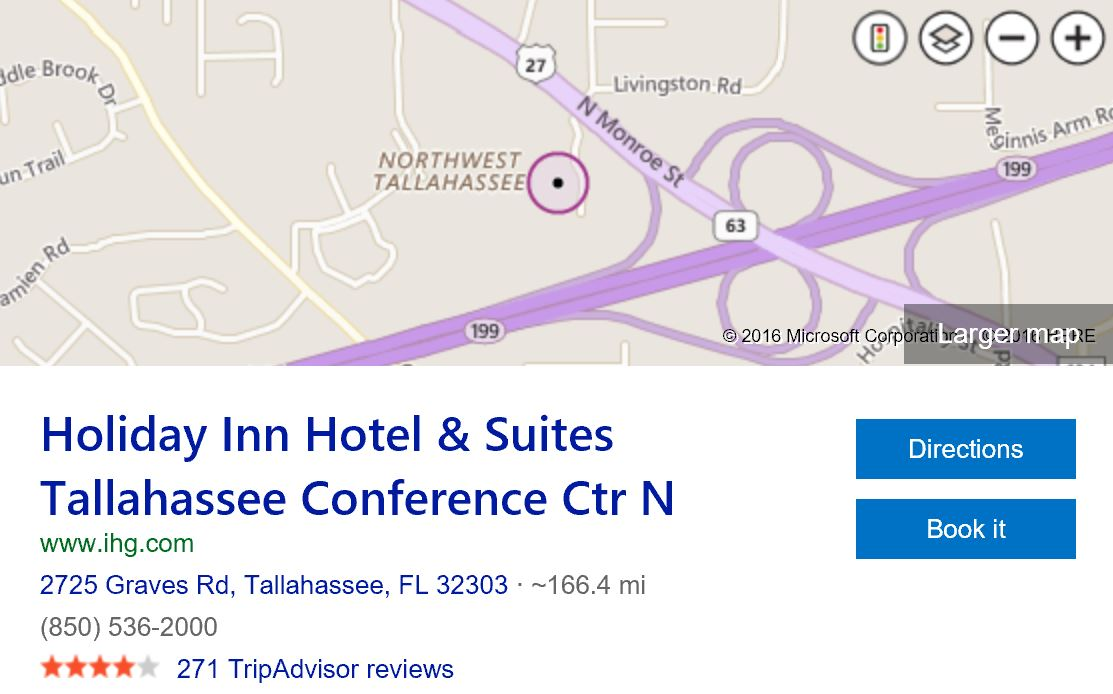 Where-is-holiday-inn-suites-tallahassee-conference-center-north
