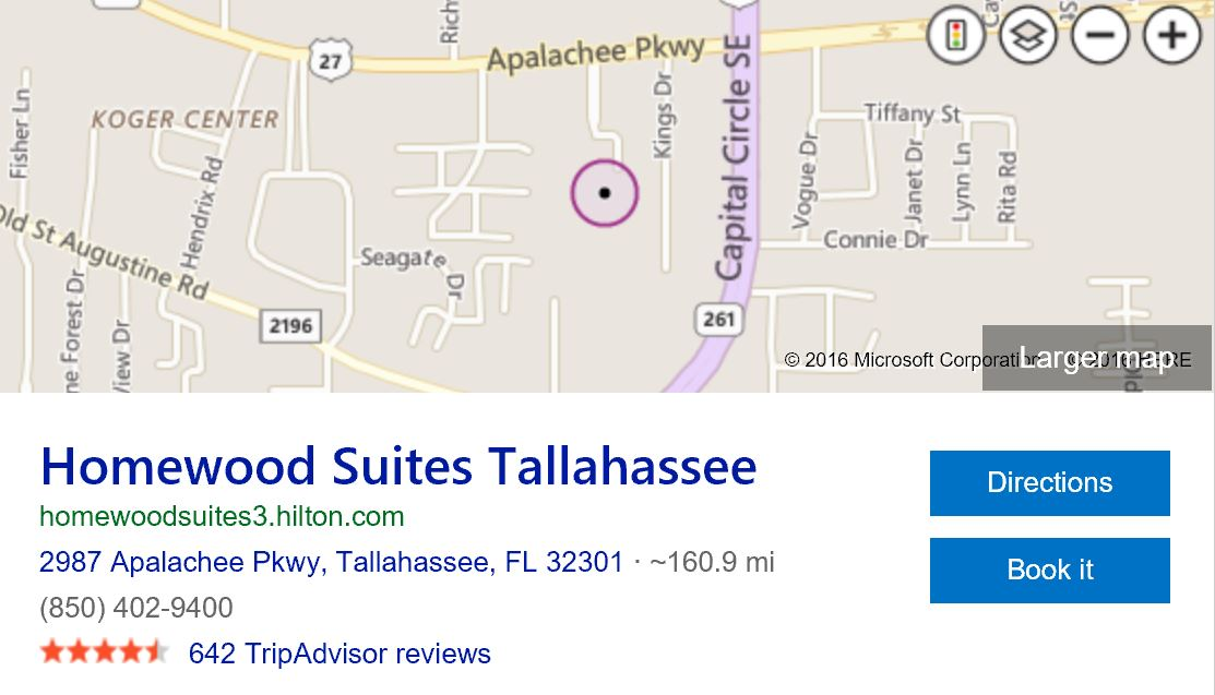 Location-of-homewood-suites-tallahassee