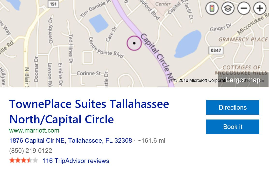 map-towneplace-suites-tallahassee-north-capital-circle
